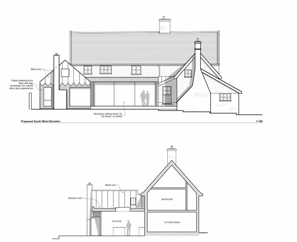 South West Elevation_Willow Farm